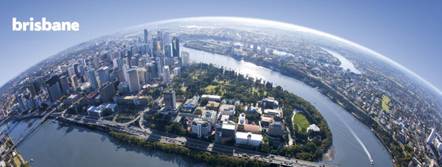Brisbane city aerial photo